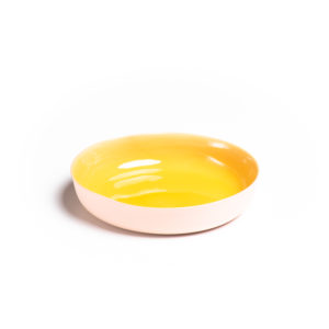 Soft Pink – Yellow Deep Plate